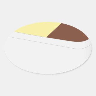 Neapolitan Ice Cream Oval Sticker