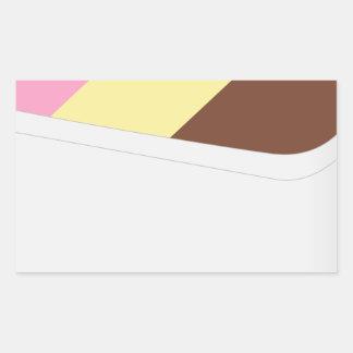 Neapolitan Ice Cream Rectangular Sticker