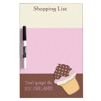 Neapolitan Ice Cream Shopping List Dry-Erase Boards