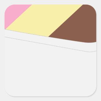 Neapolitan Ice Cream Square Sticker