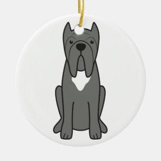 Neapolitan Mastiff Dog Cartoon Ceramic Ornament