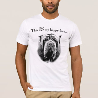 Neapolitan Mastiff Happy Face T-Shirt