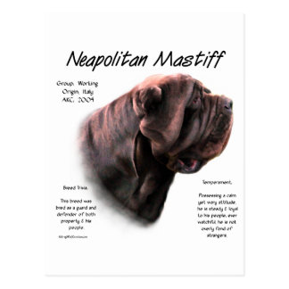 Neapolitan Mastiff (mahogany) History Design Postcard