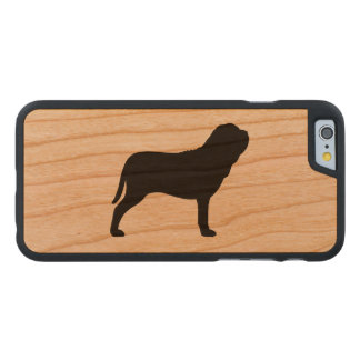 Neapolitan Mastiff Silhouette Carved Cherry iPhone 6 Case