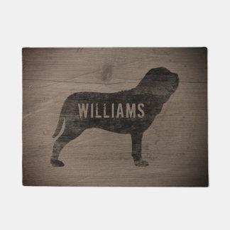 Neapolitan Mastiff Silhouette Custom Doormat