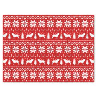Neapolitan Mastiff Silhouettes Christmas Pattern Tissue Paper