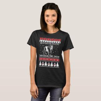 Neapolitan Mastiff Through The Snow T-shirt
