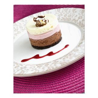 Neapolitan mousse dessert photo art