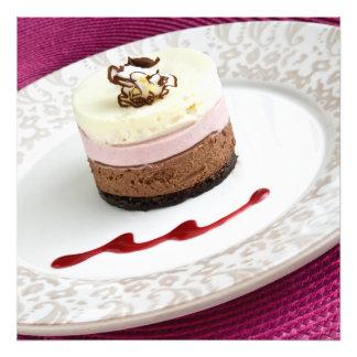 Neapolitan mousse dessert photo