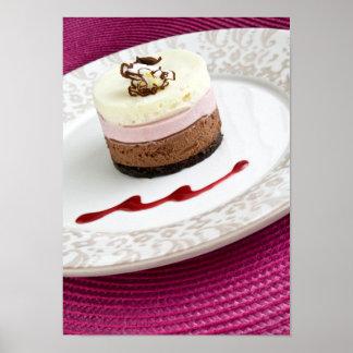 Neapolitan mousse dessert print
