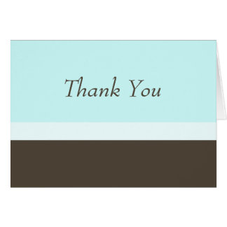 Neapolitan Thank You Note (blue) Note Card