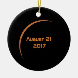 Near Maximum August 21, 2017 Partial Solar Eclipse Ceramic Ornament
