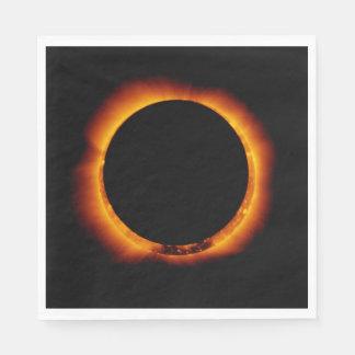 Near Total Solar Eclipse Disposable Serviette