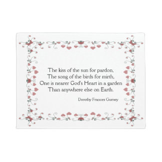 Nearer God's Heart Garden Quote Doormat