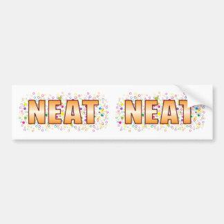 Neat Bubble Tag Bumper Sticker