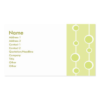 Neat Pattern Business Card Templates