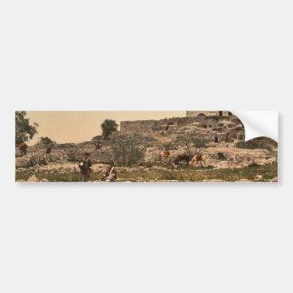 Nebi-Samuel, or the Plain of Mizpah, Holy Land, (i Bumper Sticker