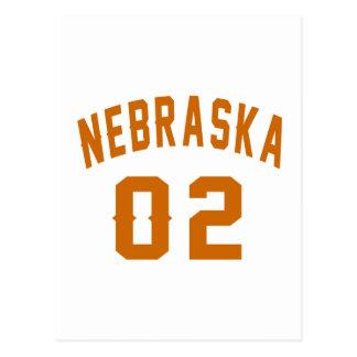 Nebraska 02 Birthday Designs Postcard