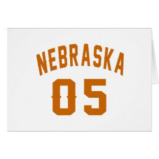 Nebraska 05 Birthday Designs Card