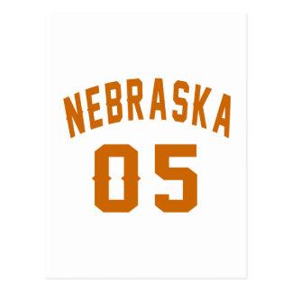 Nebraska 05 Birthday Designs Postcard