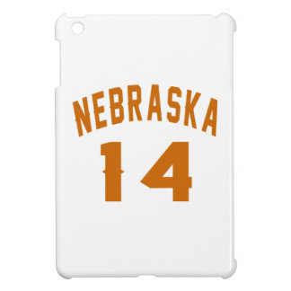 Nebraska 14 Birthday Designs iPad Mini Cover