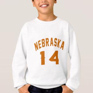 Nebraska 14 Birthday Designs Sweatshirt