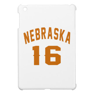 Nebraska 16 Birthday Designs iPad Mini Cover
