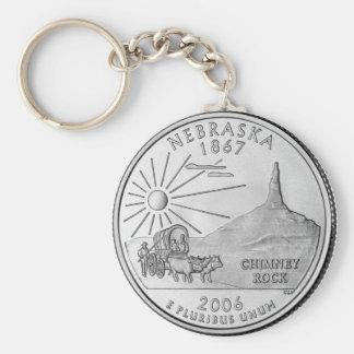 Nebraska 2006_NE_Unc Basic Round Button Key Ring
