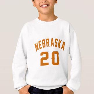 Nebraska 20 Birthday Designs Sweatshirt