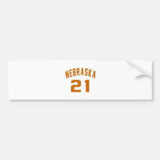 Nebraska 21 Birthday Designs Bumper Sticker