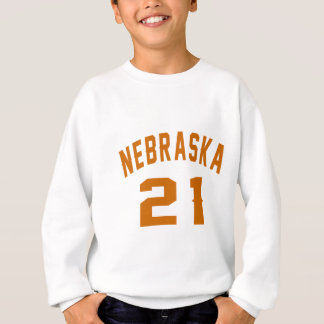 Nebraska 21 Birthday Designs Sweatshirt