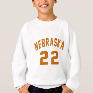 Nebraska 22 Birthday Designs Sweatshirt