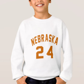 Nebraska 24 Birthday Designs Sweatshirt