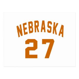 Nebraska 27 Birthday Designs Postcard