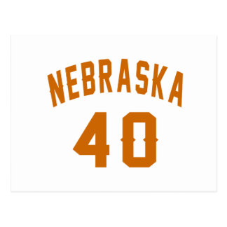 Nebraska 40 Birthday Designs Postcard