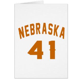 Nebraska 41 Birthday Designs Card