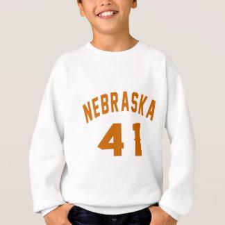 Nebraska 41 Birthday Designs Sweatshirt