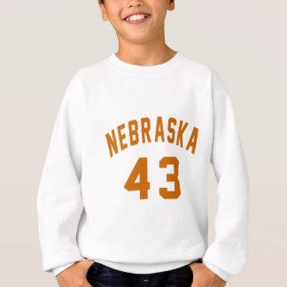 Nebraska 43 Birthday Designs Sweatshirt