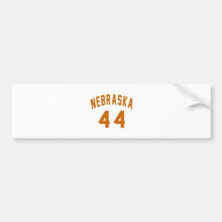 Nebraska 44 Birthday Designs Bumper Sticker
