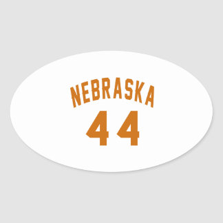 Nebraska 44 Birthday Designs Oval Sticker