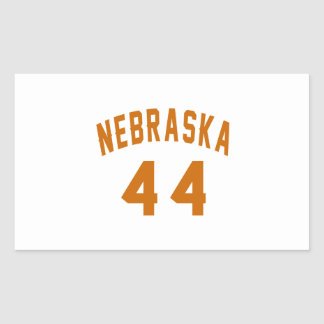 Nebraska 44 Birthday Designs Rectangular Sticker