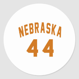 Nebraska 44 Birthday Designs Round Sticker
