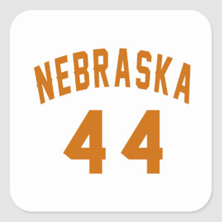 Nebraska 44 Birthday Designs Square Sticker