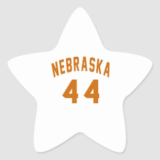 Nebraska 44 Birthday Designs Star Sticker