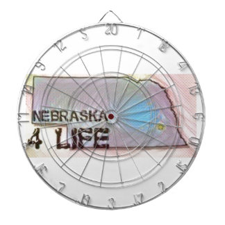 """Nebraska 4 Life"" State Map Pride Design Dartboard"