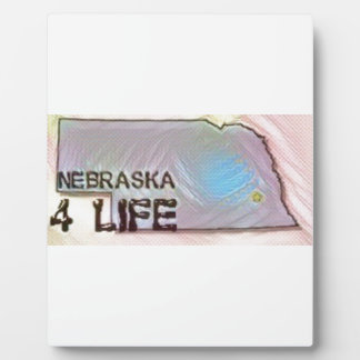 """Nebraska 4 Life"" State Map Pride Design Plaque"