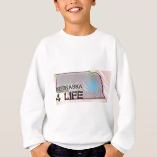"""Nebraska 4 Life"" State Map Pride Design Sweatshirt"