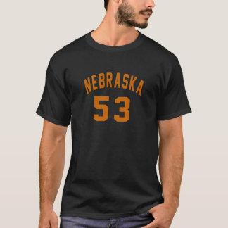 Nebraska 53 Birthday Designs T-Shirt