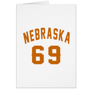 Nebraska 69 Birthday Designs Card