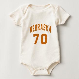 Nebraska 70 Birthday Designs Baby Bodysuit